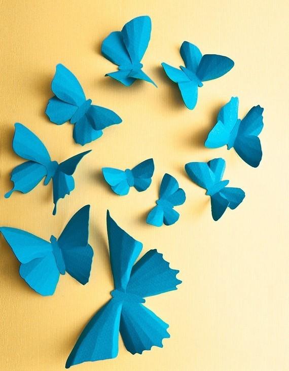 Бабочки своими руками 3д